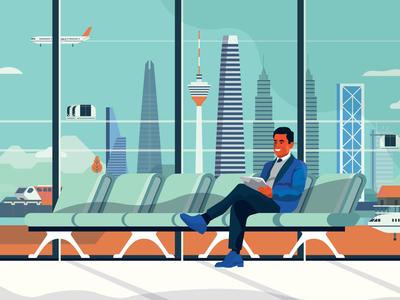 Future Airport illustrated