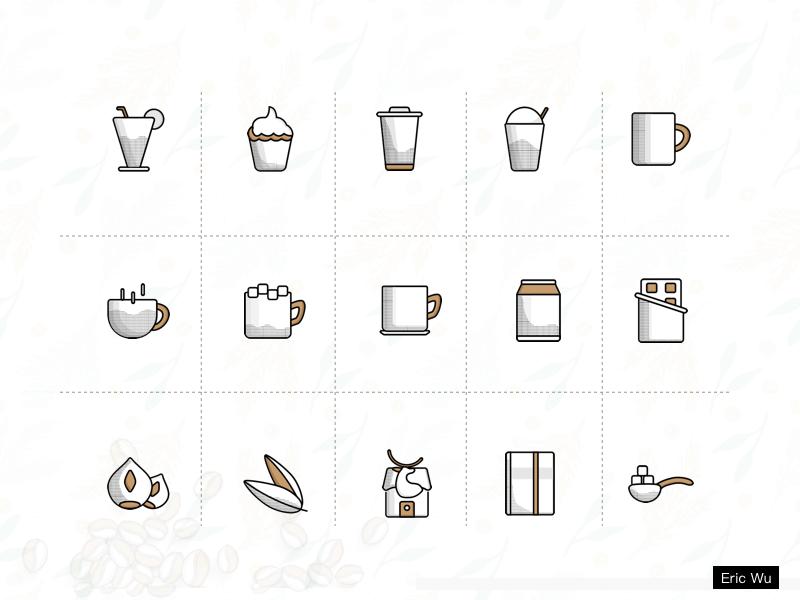 Luckin Coffee Redesign app sketch illustrator icon app,ui concept