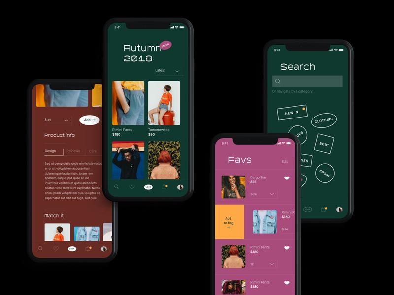 Look Book App xd ui library app design minimal ui