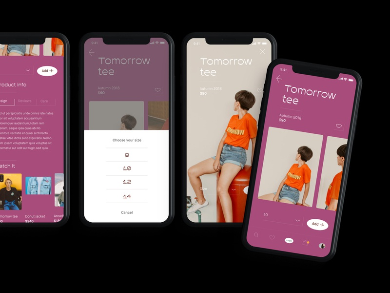 Look Book App fashion ui library app design minimal ui