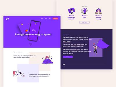 Wildcard website illustration branding design minimal website design ui