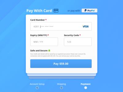 Todays #dailyui - #002 is Checkout ;) love ux cards blue sf design dailyui web ui eccomerce checkout