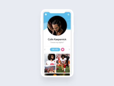Todays #dailyui - #006 - User Profile portrait layout iphone interface ios cards card app branding ux vector ui