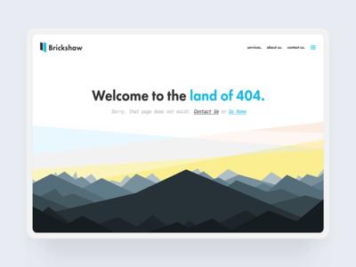 Todays #dailyui - #008 - 404 Page sunset photography futura typography ux landscape illustration vector ui web design 404