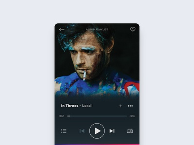 Todays #dailyui - #009 - Music Player vector icon mobile app ux typography web ui loscil music