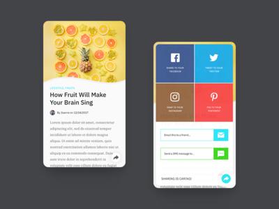 Todays #dailyui - #010 - Social Sharing material design design ux user interface apps icon ui web social