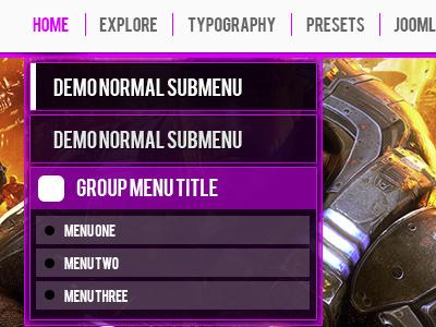 Dropdown menu menu ui