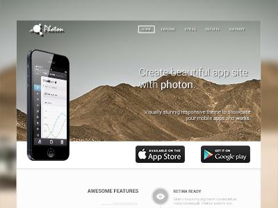 App Template Header template website app website joomla