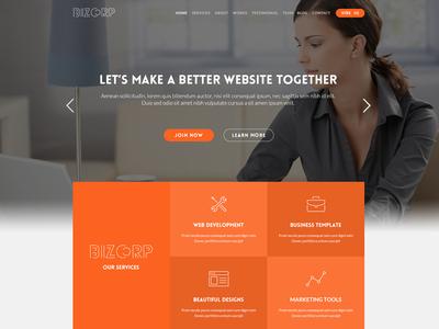 BizCorp: Onepage Business Template onepage corporate business joomla