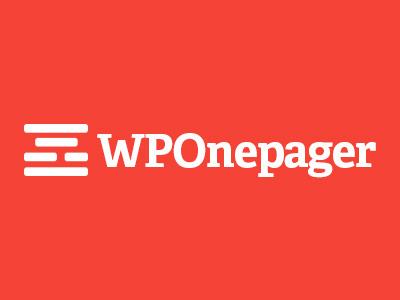 WPOnepager Logo wordpress builder page builder