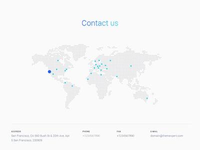 Contact Us blog minimal corporate creative 2017 template website web design joomla