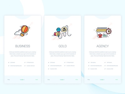 Pricing Page Concept 2 ux flat design block website ui pricing