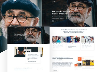 Creative Agency Concept free resources new trend template website sketch agency
