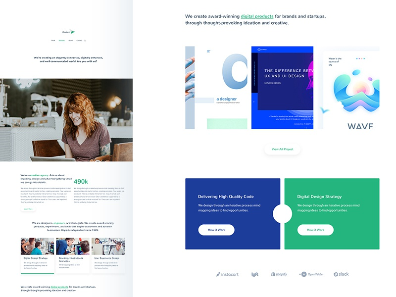 Exclusive Agency Sketch Template creative agency corporate blog free theme template website sketch
