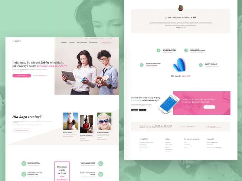 PelviFly - Telemedicine & eHealth startup landing page woman women health ehealth telemedicine ui ux service mobile design web
