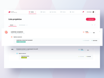 Edu platform - Dashboard