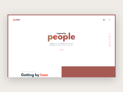 ProjectPeople.pl - new website or not? homepage typography white landing page website company portfolio