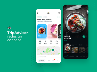 TripAdvisor - redesign concept adventure tour mobile app guide menu trip planner restaurant mobile app redesign trip food travel tripadvisor