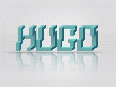 Thanks Hugo! debut type thanks hugo 3d