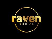 Raven Social Logo - Gold