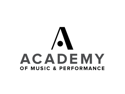 Academy of Music & Performance Logo music accent staccato duro symbol music academy logo