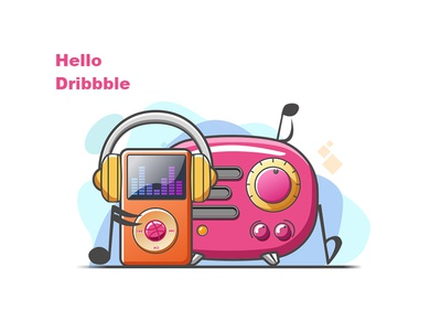 Hello Dribbble first shot recorder mp3 music