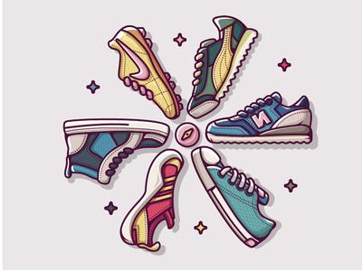 sneakers illustration sneakers