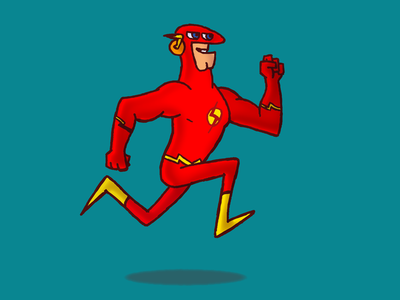 Flash heroes character 2d cartoon flash