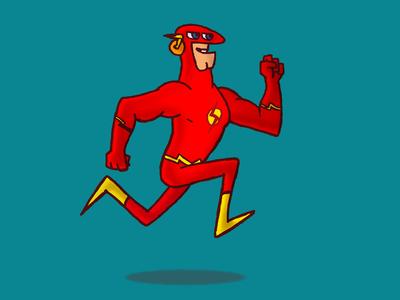 Flash heroes character 2d cartoon flash