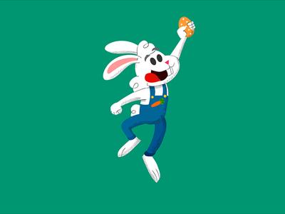 Easter Rabbit flash illustration cartoon character 2d rabbit egg easter
