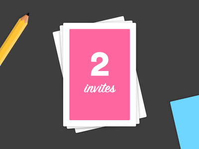 2x Invites Giveaway!! trending community popular vector ui clean illustration minimal cards giveaway