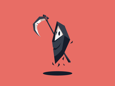 Ghost dead character design illustration reaper boo ghost