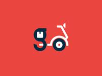 go - delivery & courier services logo design