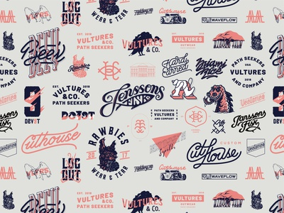 Logotype Collection drawing identity retro simple type branding illustration typography lettering logo