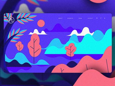 Frontpage Illustration web ux ui interface illustration graphic flat design background frontpage