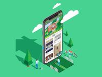 Isometric App Illustration