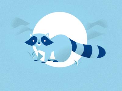Raccoon forest animals animal cute vector art illustration illustrator flat raccoon