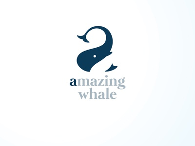 Amazing Whale daily logo challenge whale brand identity logo letter logo