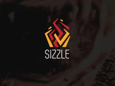 Sizzle fire sizzle daily logo challenge illustration logo design brand identity vector art
