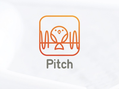 Pitch icon app music daily logo challenge illustration bird logo design brand identity vector art