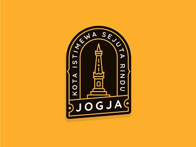 Jogja City Badge Exploration landmark monument badge illustration logo tugu jogja indonesia logo design city badge badge design badge logo yogyakarta jogja
