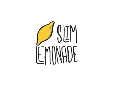 Slim Lemonade Logo sketch kawaii cute food and drink sweet juice orange juice culinary food icon hand drawn logo orange fruit lemonade lemon diet slim