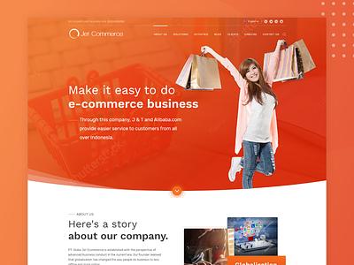 Landing Page Exploration shopping uidesign company profile web design company commerce web design website landing page