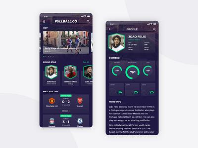 Football App Design FREEBIE freebie goal football club web design news match score statistic shield player uiux app ui football app football