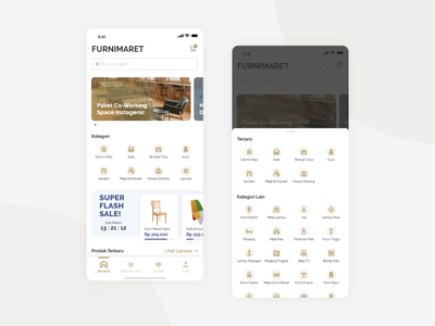 Furniture Market Place xddailychallenge xd adobe xd indonesia flash sale sale category search branding gojek marketplace bed chair ui app furniture
