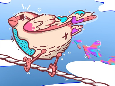 F_ck you! I can fly! designs design procreate app procreate illustraion