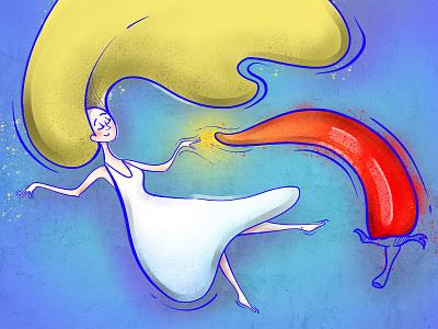 Chili love procreate illustration art food graphic art art girl chili design illustraion