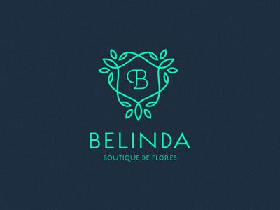 Belinda flower floral logo monogram ornate ornament letter line thin boutique