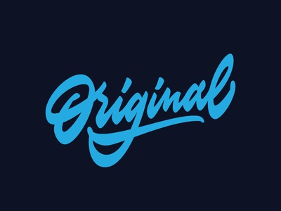 'Original' t shirt lettering drawn handwritten design t shirt crafted hand typography type script brush graphics lettering