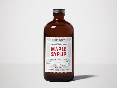 Maple Syrup label typography vintage retro octagonal textured organic bottle font typeface lettering type